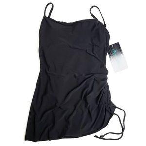NWT Side Tie Swim Dress Black